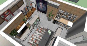 MAQUETE ELETRONICA DESIGN DE INTERIORES TECEART WELCOME 114 PROJETO 3D